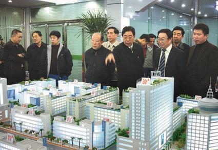 潘心城一行在石狮菲华金丘集团开发建设有限公司调研诚信建设工作